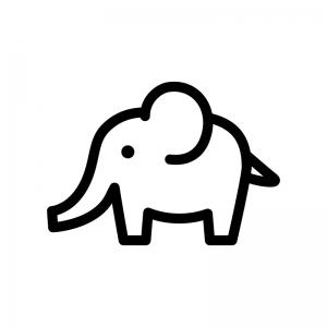 ゾウのシルエット 無料のaipng白黒シルエットイラスト