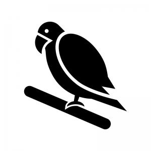 インコのシルエット 無料のaipng白黒シルエットイラスト