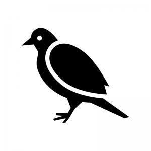 小鳥の白黒シルエットイラスト