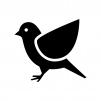 小鳥の白黒シルエットイラスト02