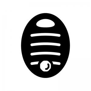 湯たんぽの白黒シルエットイラスト