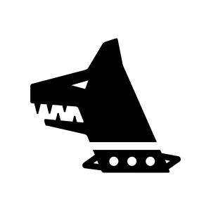 猛犬の白黒シルエットイラスト