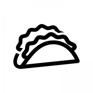 レタスサンドの白黒シルエットイラスト