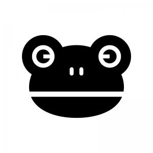 カエルの白黒シルエットイラスト
