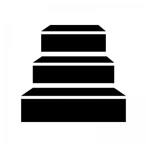 階段の白黒シルエットイラスト05
