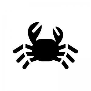 蟹の白黒シルエットイラスト03
