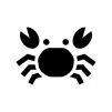 蟹の白黒シルエットイラスト04