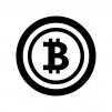 ビットコインの白黒シルエットイラスト03