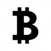 ビットコインの白黒シルエットイラスト05