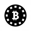 ビットコインの白黒シルエットイラスト06