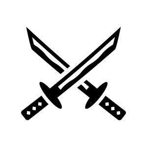 日本刀のシルエット02 無料のaipng白黒シルエットイラスト