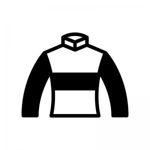 競馬の勝負服の白黒シルエットイラスト