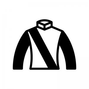 競馬の勝負服の白黒シルエットイラスト02
