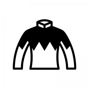 競馬の勝負服の白黒シルエットイラスト03