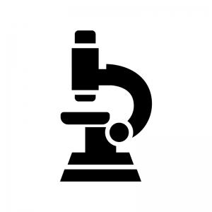 顕微鏡の白黒シルエットイラスト02