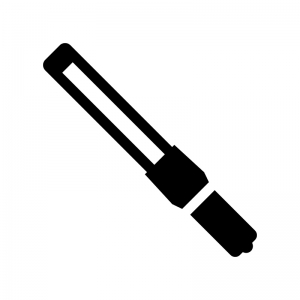 誘導棒の白黒シルエットイラスト