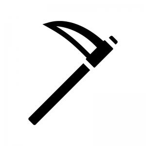 鎌の白黒シルエットイラスト