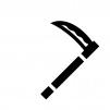 鎌の白黒シルエットイラスト02