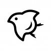 千鳥マークの白黒シルエットイラスト02