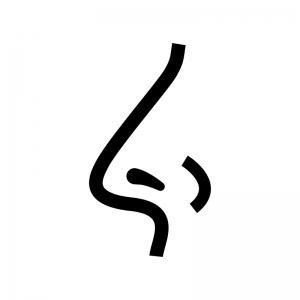 鼻の白黒シルエットイラスト02