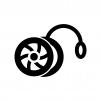 ヨーヨーの白黒シルエットイラスト02