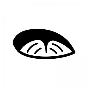 魚の切り身の白黒シルエットイラスト