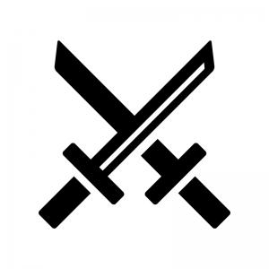 剣の白黒シルエットイラスト02
