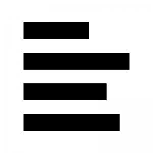 文字の左揃えの白黒シルエットイラスト