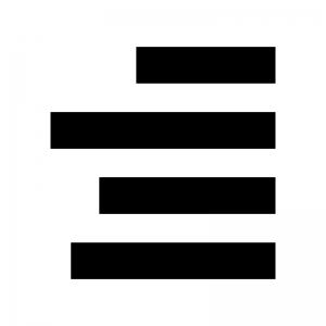 文字の右揃えの白黒シルエットイラスト