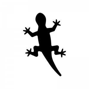 トカゲヤモリのシルエット 無料のaipng白黒シルエットイラスト