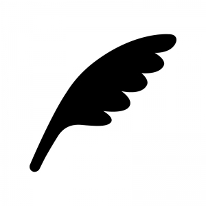 鳥の羽のシルエット 無料のaipng白黒シルエットイラスト