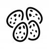 うずらの卵の白黒シルエットイラスト02
