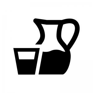 デキャンタ・ピッチャーの白黒シルエットイラスト02