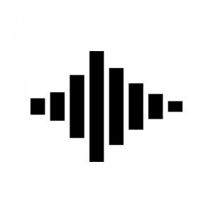 音波の白黒シルエットイラスト02