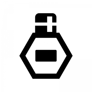 香水の白黒シルエットイラスト