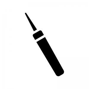 工具・キリの白黒シルエットイラスト