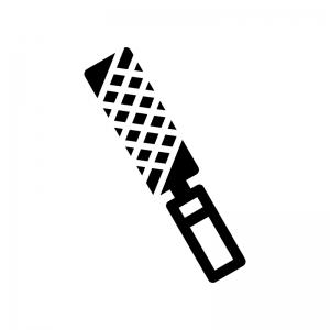 棒ヤスリの白黒シルエットイラスト
