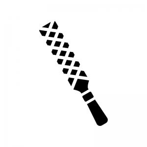 棒ヤスリの白黒シルエットイラスト02