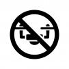 ドローン禁止の白黒シルエットイラスト02