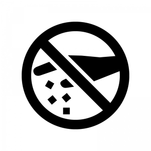 ポイ捨て禁止の白黒シルエットイラスト
