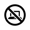 デジタル機器の使用禁止の白黒シルエットイラスト