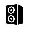 オーディオスピーカーの白黒シルエットイラスト03
