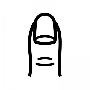 指先・爪の白黒シルエットイラスト02