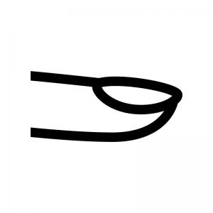 指先・爪の白黒シルエットイラスト03