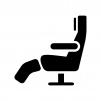 座席シートの白黒シルエットイラスト02