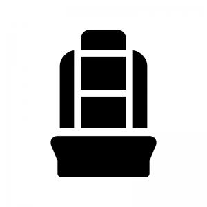 座席シートの白黒シルエットイラスト03