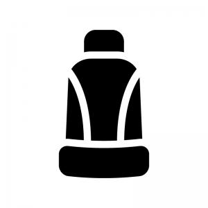 座席シートの白黒シルエットイラスト04