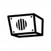 校内放送スピーカーの白黒シルエットイラスト02