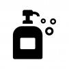 ハンドソープ・泡石鹸の白黒シルエットイラスト02