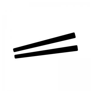 お箸の白黒シルエットイラスト03
